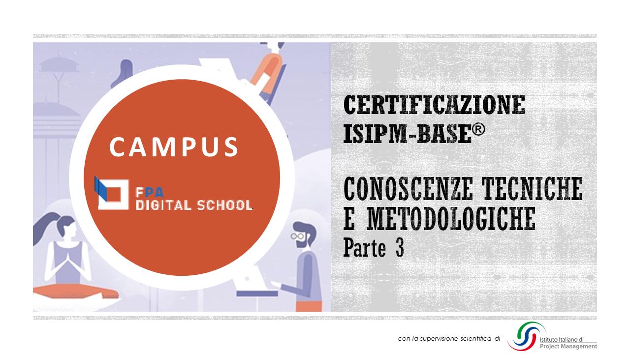 Modulo 5 | Conoscenze tecniche e metodologiche - parte 3