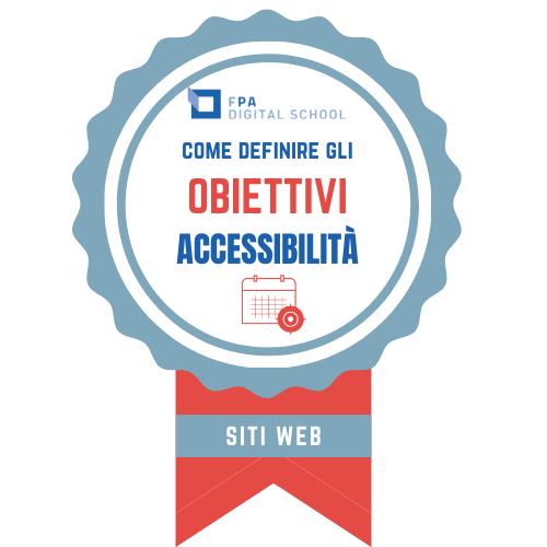 OBIETTIVO Accessibilità e usabilità | Modulo 1: Accessibilità dei siti web
